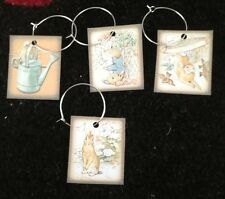 Peter Rabbit Wine Glass Charms Baby Shower Party Decoration