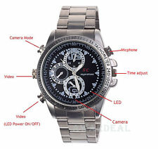 8GB HD Cam Steel Belt Watch Camera Waterproof DVR Digital Video Voice Recorder