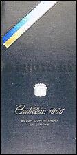 1965 Cadillac Color Upholstery Dealer Album Deville Calais Eldorado Fleetwood