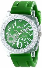 NEW Tocs 40317 Womens Glitz Green Tea Watch Analog Shock And Water Resistant