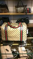 GUCCI  374769 Ebony Brown  GG Crystal X- Large Travel Duffel bag NEW WITH TAGS