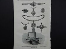 Illustrated London News Full Page B&W A1#48 Mar 1871 Prince Louise's Gifts