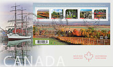 CANADA 2016 UNESCO WORLD HERITAGE SITES SOUVENIR SHEET FIRST DAY COVER