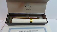 New 24k gold plated Parker classic blue ink ball Pen &gift box & FREE ENGRAVING