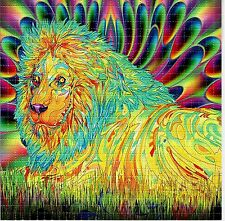 PSYCHEDELIC LION BLOTTER ART PSYCHEDELIC PERFORATED PRINT ACID LSD FREE HOFMANN