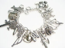 The Walking Dead Zombie Survival Inspired Loaded Charm Bracelet