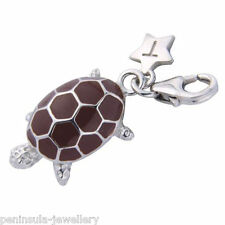 Tingle Tortoise Sterling Silver clip on Charm with Gift Box and Bag SCH211