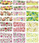 Nail Art Stickers Water Decals Nail Transfers Wraps Flowers Leopard Peacocks