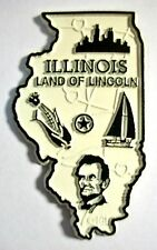 Illinois Land of Lincoln State Map Fridge Magnet