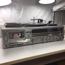 SANYO JXT 65 STEREO MUSIC SYSTEM, AM FM 33 45 TURNTABLE CASSETTE