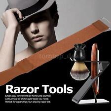 4in1 Shaving Set For Men Razor + Shaving Brush + Stand +Leather Strop Strap U1S4