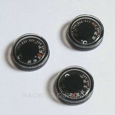2pcs 20mm Diameter Dry Mini Round Celsius Thermometer Temperature Tester