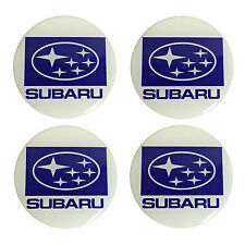Subaru Resin Domed Stickers for Car Alloy Wheel Centres (set of 4)