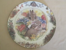 JULY JUBILEE collector plate BACKYARD BUDDIES Crestley Collection BUNNY RABBIT