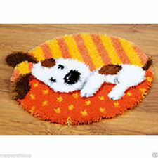 Spotted Puppy Vervaco Latch Hook Kit Rug Making Kit 54x43cm