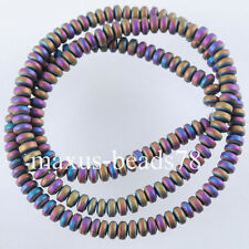 Free shipping Motley Hematite Gemstone Rondelle 2x4mm Beads 15.5Inches MG1660