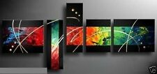 MODERN ABSTRACT HUGE WALL ART OIL PAINTING ON CANVAS (No Frame) + Gift