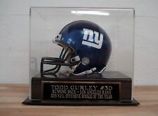 Football Mini Helmet Display Case With A Todd Gurley Rams Nameplate