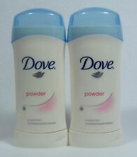 2 Dove POWDER Invisible Solid Antiperspirant Deodorant