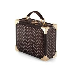 Aspinal of London The Mini Trunk Clutch in Pheasant Brown Snake. RRP £495.