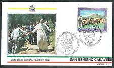 1990 VATICANO VIAGGI DEL PAPA SAN BENIGNO CANAVESE - SV2