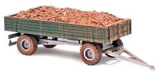 Busch 44922 Trailer With Balloon Tyres And Brick  H0 1:87 suberb detail