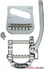 Bigsby B5 Fender Telecaster Tele Guitar Vibrato Tailpiece Kit w/ Bridge - CHROME