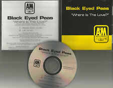Fergie Will.I.am BLACK EYED PEAS Where is the Love RADIO EDIT PROMO DJ CD Single