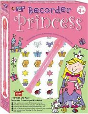 Open & Play Recorder Learn to EASY Girls Beginner Music Book & CD Princess Pack