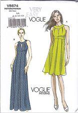 Vogue V8574 6-12 Sewing Pattern Vintage 1960s Banded Sundress/Gown
