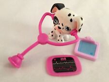 "MINI 2"" Littlest Pet Shop Dauchound Dog w Dr Equip Figurine - Lot of 4 Pieces"