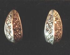 NEW Sterling Silver & Marcasite Half Hoop Earrings