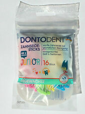 SALE 16 pck Dontodent Dental floss for children over 6 years. MAKE FLOSSING FUN