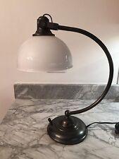$149 Pottery Barn TASK TABLE Office Desk LAMP Bronze Vintage Restoration Antique