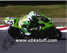 Roger Lee Hayden #95 Kawasaki Autographed A4 Photo P/P