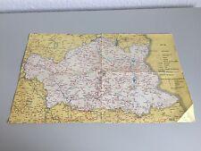 DDR Verkehrskarte Karte - Autobahnen, Eisenbahn, Bus - 1977/78