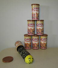 6 SNAKE IN A NUT CAN  SPRING LOADED TRICK NUTS GAG CLASSIC PRANK NOISE MAKER