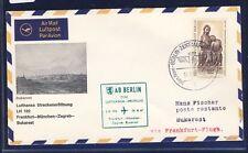 50377) Berlin, Zul. zu LH FF Frankfurt - Bukarest 26.8.67, EF 1,10DM