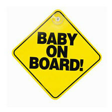 Baby on Board Sign Baby on Board Suction Cup Car Window  Sign