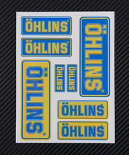 OHLINS fork shocks decals set 4.7x6.3 in. sheet 8 stickers Laminated