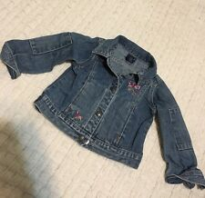 OSHKOSH 3t Blue Jean Girls Long Sleeve Size Jacket W/Flowers