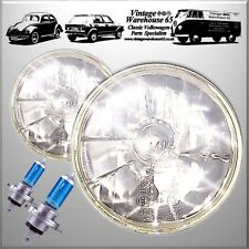 "Classic Austin Mini 7"" Crystal Xenon Sealed Beam Headlights Halogen Conversion"