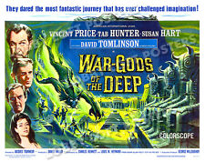 WAR GODS OF THE DEEP LOBBY CARD POSTER HS 1965 VINCENT PRICE TAB HUNTER