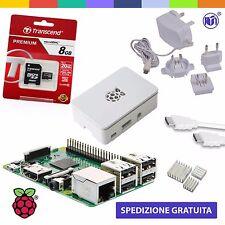 Raspberry Pi 3 Kit (M16 WHITE) con Alimentatore, Case, SD, HDMI e Dissipatori