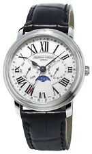 Frederique Constant Classics Business Timer Steel Mens Strap Watch FC-270M4P6