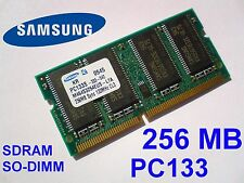 256MB PC133 SDRAM CL3 SO-DIMM 144pin 133MHz NOTEBOOK LAPTOP SODIMM RAM SPEICHER