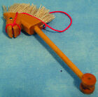1:12th Wooden Hobby Horse Dolls House Miniature Nursery Garden Toy Accessory 160