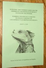 Scientific + Common Names 4 Amphibians + Repts of Mexico in English + Spanish