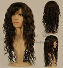 New Long Brown curly Miss Fashion wigs Human-made hair wigs+cap