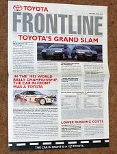 TOYOTA FRONTLINE 1994 Ed No1 - WRC Champions, Range Review, Commercials
